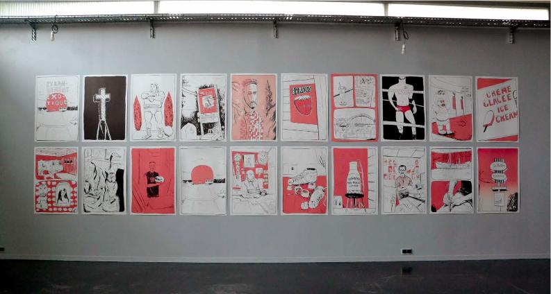 ÉTRANGEMENT EXOTIQUE, Lucy Watts 70 x 100 cm Série de 20 lithographies sur papier Rivoli 250g, 2014